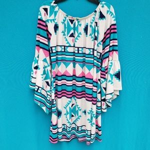 Pixi & Ivy Tops - Pixi & Ivy Bell Sleeve Tunic Dress Size Large